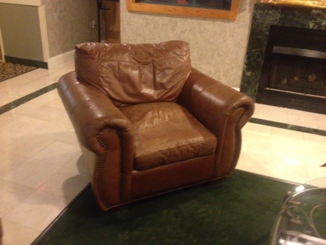 Viewpoint Leather Sofa Sold Leather Sofa Br Nailhead Trim