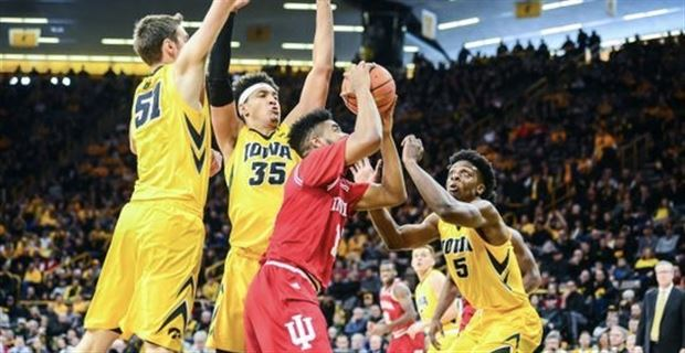 Johnson's 3-point barrage leads IU to 84-82 road win over Iowa