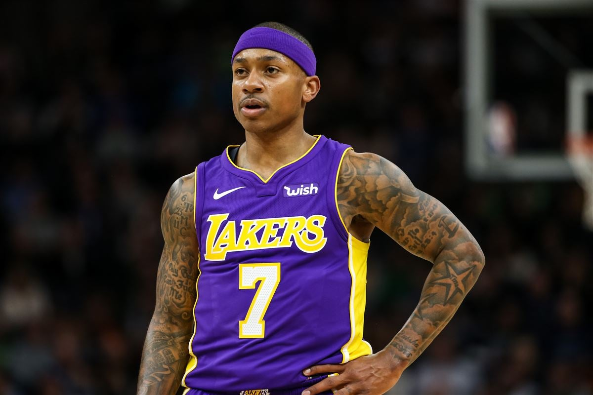 ae75612b0817 Los Angeles Lakers guard Isaiah Thomas changes his jersey number
