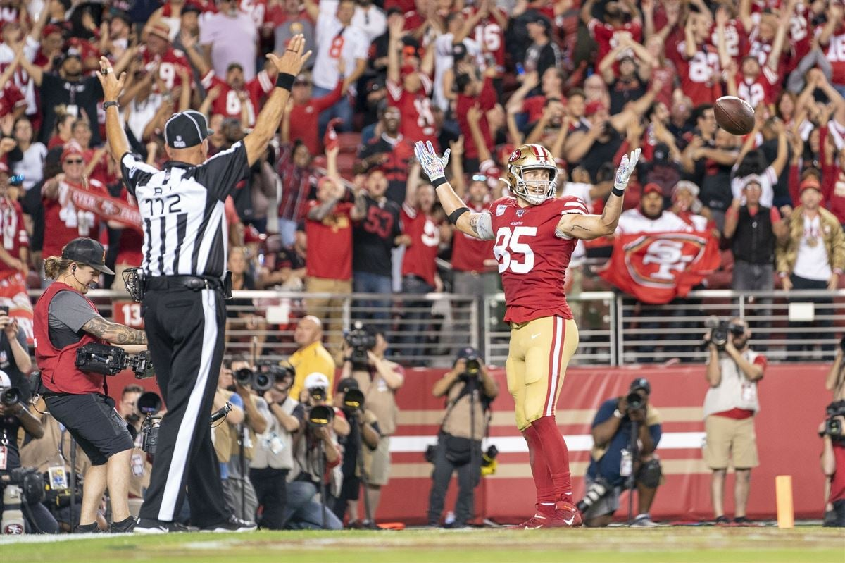 WATCH: Kittle catches touchdown pass on Monday Night Football