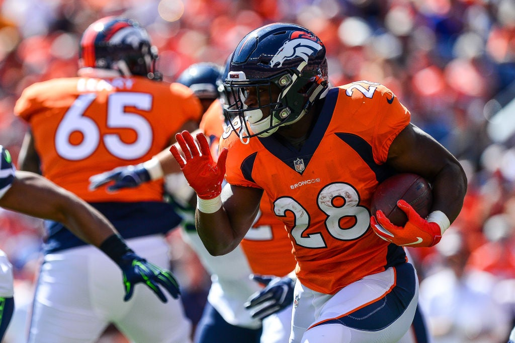 brand new 8ccd5 9fcd8 Royce Freeman among inactives for Broncos vs. Texans