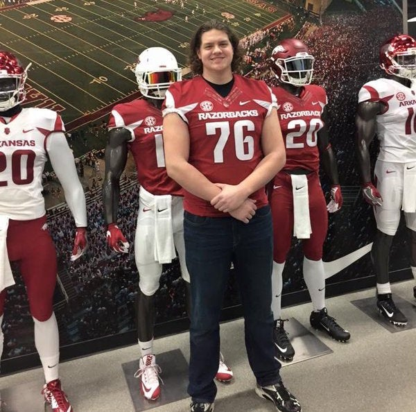 Arkansas coaches confident freshman can fill void at left tackle