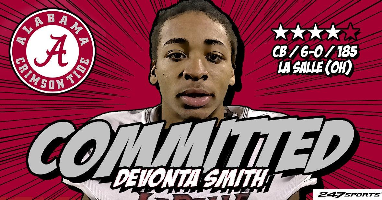 BREAKING: Alabama lands red-hot CB Devonta Smith