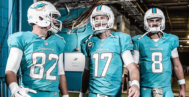 cbff3b67b9a Thankfully, the Miami Dolphins got rid of those orange Color Rush uniforms  that showed up against the Cincinnati Bengals. Instead, the team will be  going to ...