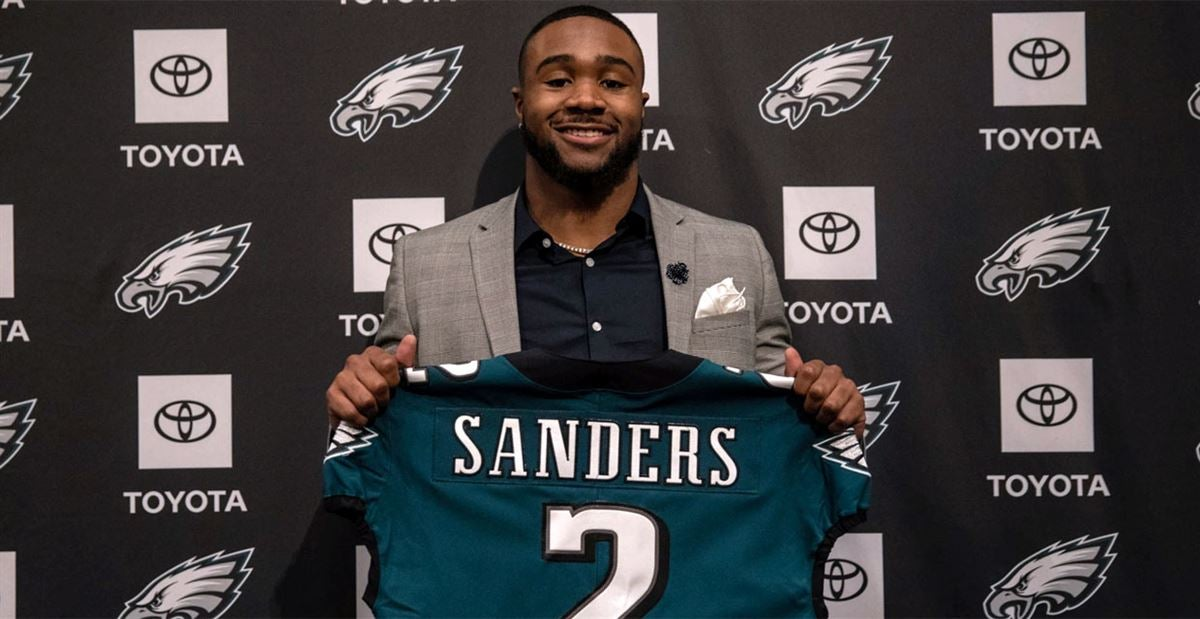 official photos f0669 964f0 Miles Sanders hints his jersey number for Eagles