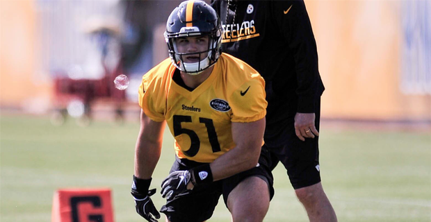 the latest c57ab 6d1d1 Steelers experiment with Sutton Smith at OLB during camp