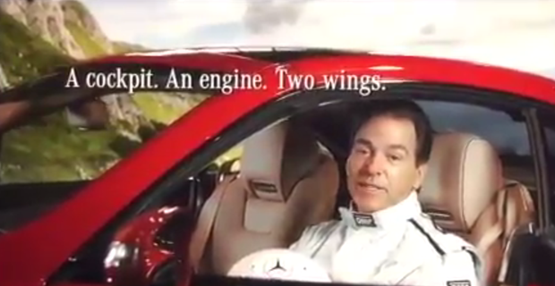 Video Nick Saban Is A Stunt Driver In Mercedes Ad
