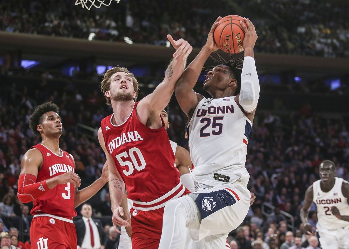 Quick Recap: Indiana hangs on for 57-54 win over UConn