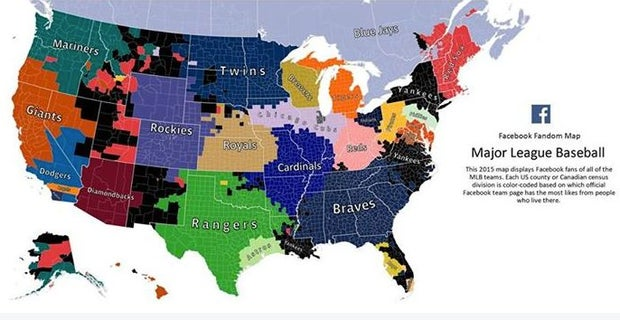 Map: Are Yankees the most popular baseball team in America?