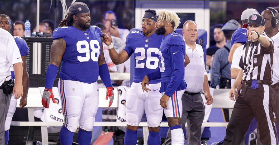 Giants release inactive players who won't play vs. Lions