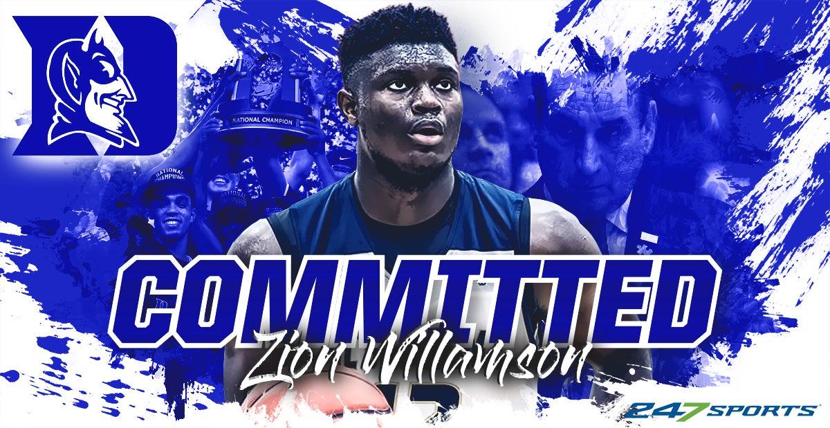 58eccd579f6 Zion Williamson verbally commits to Duke