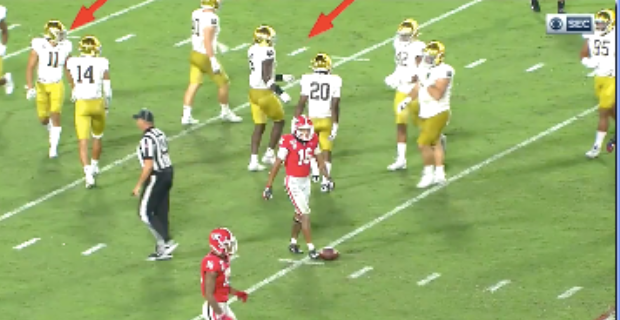 Video: Notre Dame accused of faking injury to slow down Georgia