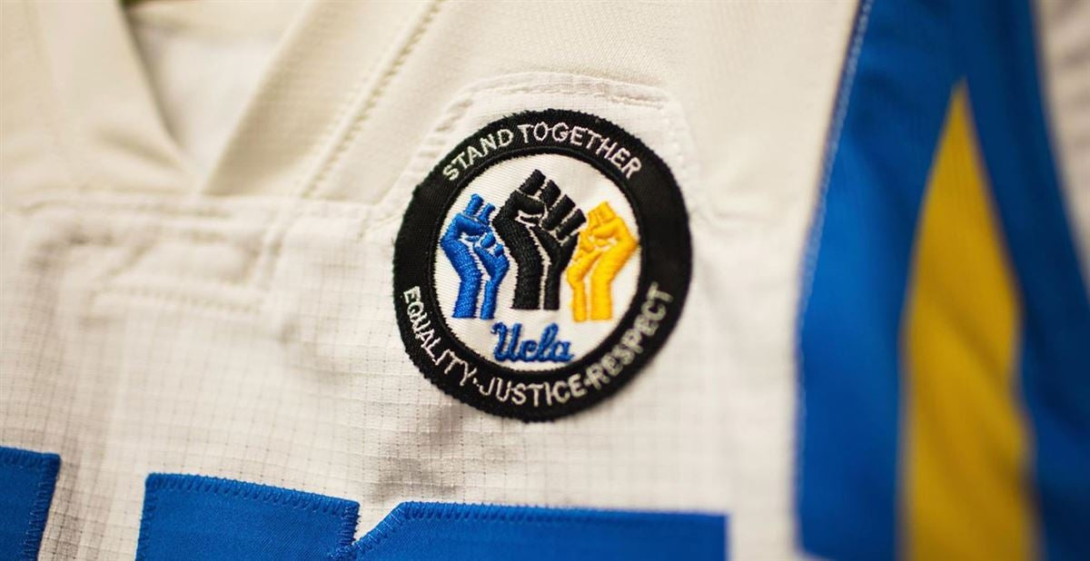 """UCLA Players Display """"Stand Together"""" Patch on Uniforms"""