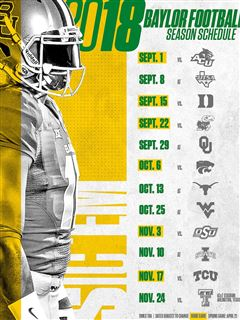 Baylor Football Releases Full 2018 Schedule