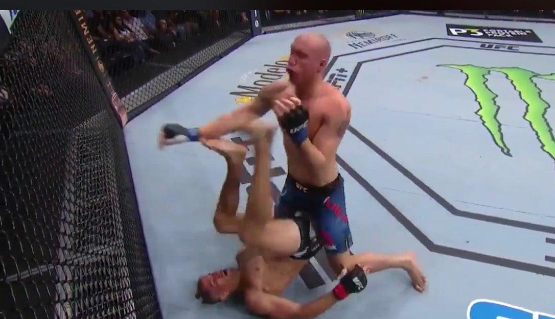 WATCH: UFC fight ends in wild up-kick KO