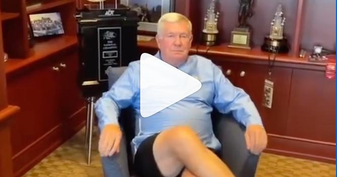 Video: UNC's Mack Brown Shows Off 'Drip' in First TikTok Video