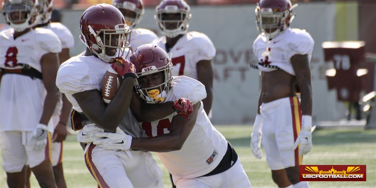 WATCH: USC defensive backs in tackling form drills