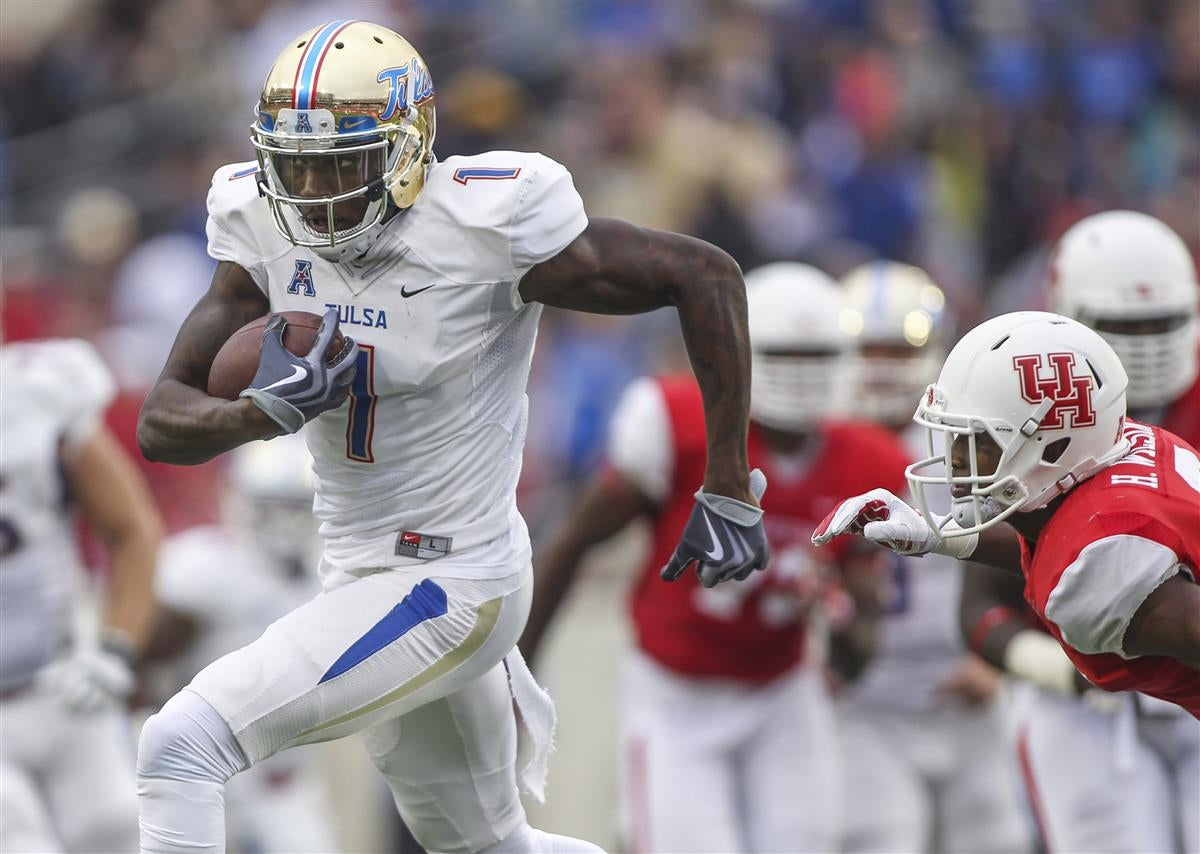 Nike authentic jerseys - Report: Tulsa wideout Keyarris Garrett to visit Patriots