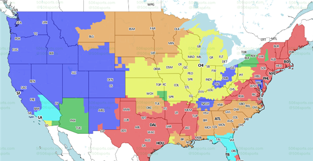 Coverage map released for Lions-Packers game - CBSSports.com on