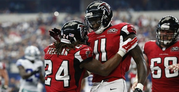 What time are the Atlanta Falcons playing tonight?