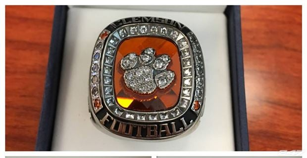 ring quality clemson rings tigers high men solid s championship national p fan