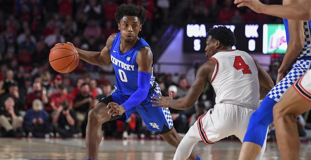 Kentucky's sophomore point guard, Ashton Hagans had a good game in his team's win over Georgia.  (Photo: USA Today Sports, via 247 Sports.)