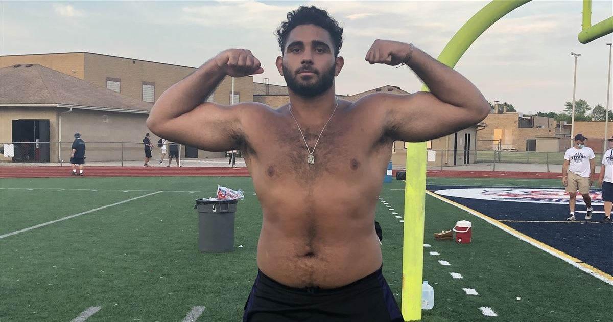 WATCH: Michigan OL commit Giovanni El-Hadi - Week One Highlights