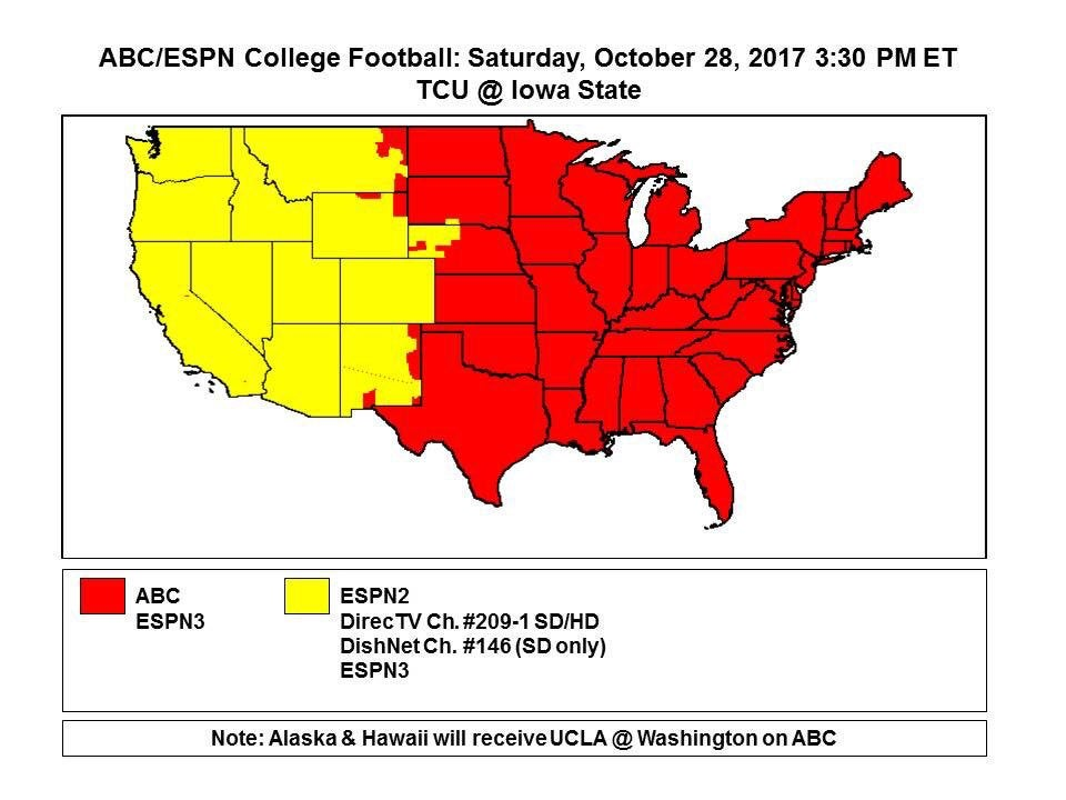 Will you get TCUIowa State on ABC or ESPN2 Find out here