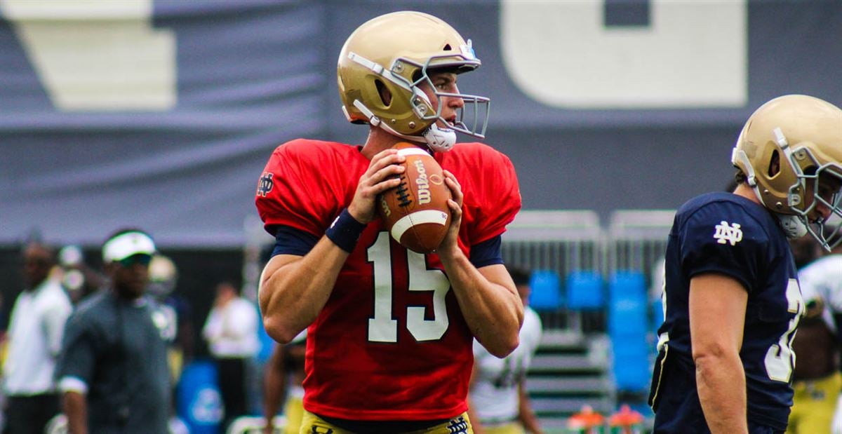Notre Dame freshmen take the field for practice on Aug. 9