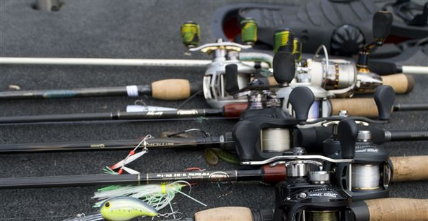 6 Rod And Reel Bass Fishing System Reels