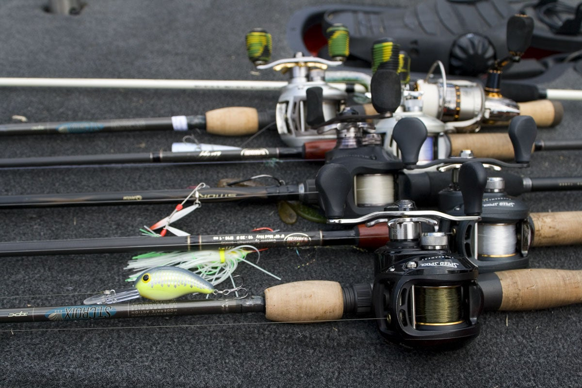 6 Rod and Reel Bass Fishing System: Reels