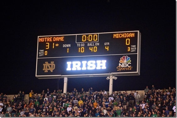 Image result for notre dame michigan 2014