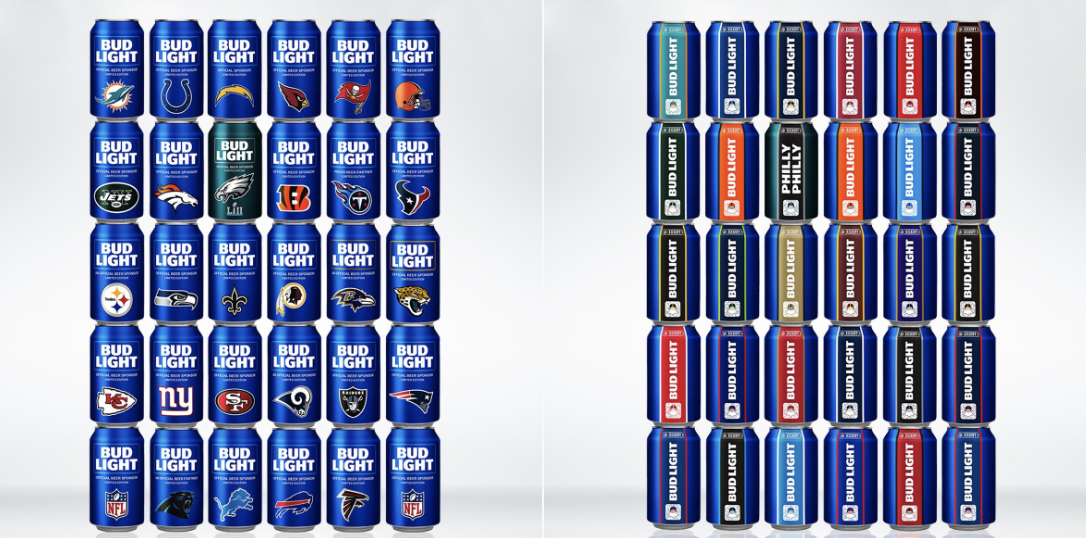 Bud Light Released A Super Bowl Can For The Eagles. (Photo: Bud Light)
