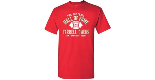 new style 65213 aa4d7 Terrell Owens given 49ers affiliation on Hall of Fame T-Shirt