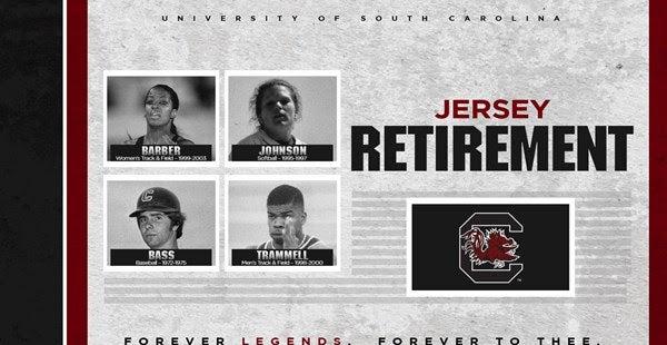 premium selection 5ce6a 3e9c1 Gamecocks announce four jersey retirements
