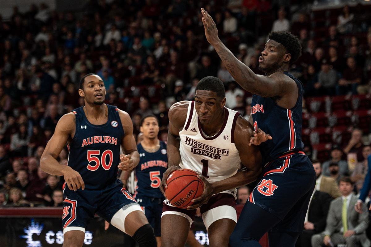 Mississippi State's 6-9 sophomore big man, Reggie Perry had some solid moments in his team's loss to Auburn.  (Photo: Adam Sparks / Inside the Auburn Tigers, 247Sports)