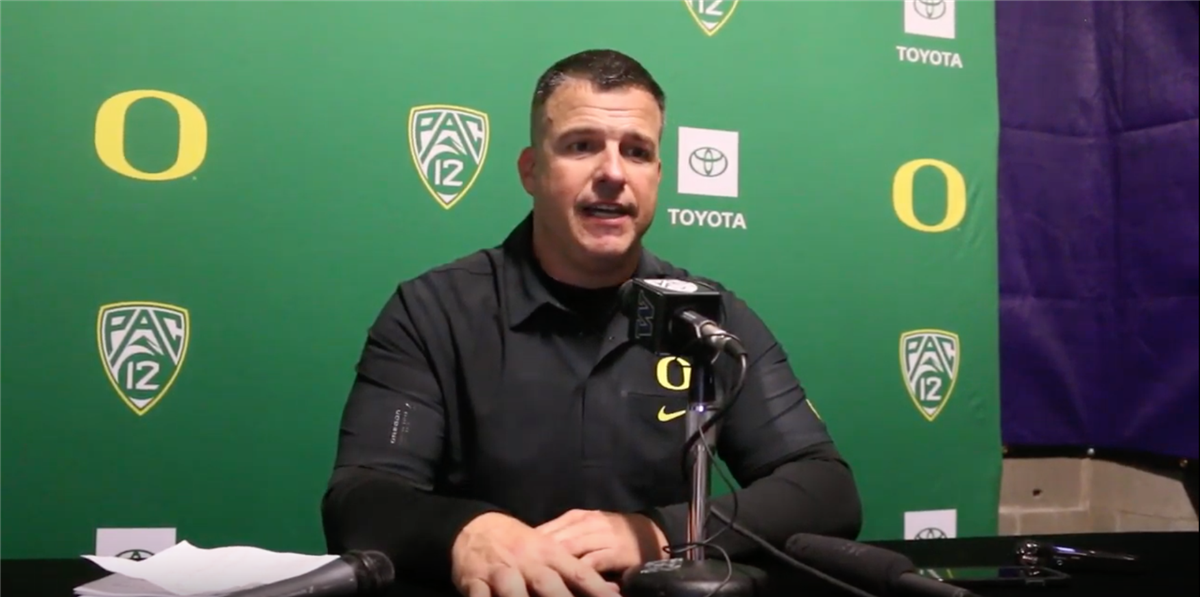Watch: Oregon HC Mario Cristobal 'extremely proud' after UW win