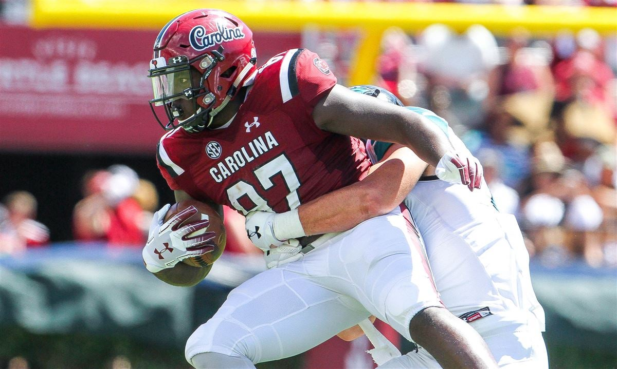 Gamecocks tight end walking away from football