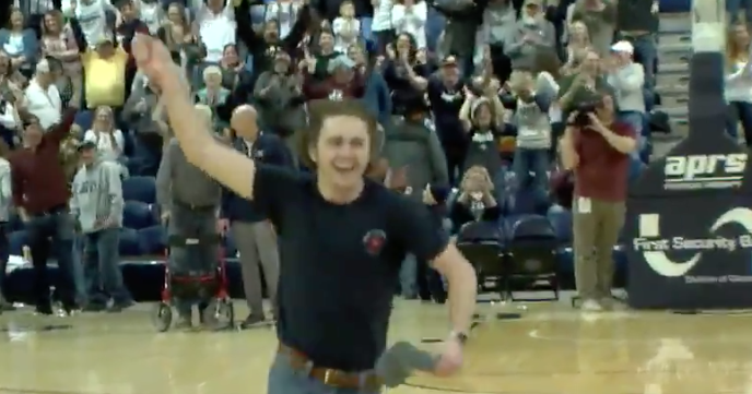 WATCH: Student sinks full-court shot for $11,000
