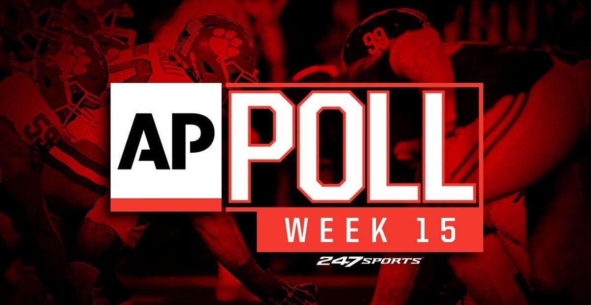 AP Top 25 rankings updated for Week 15