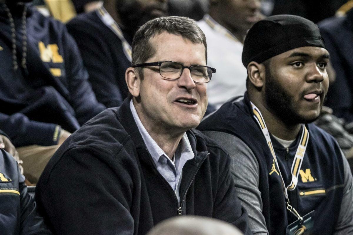 Michigan football and recruits invade basketball game vs. OSU