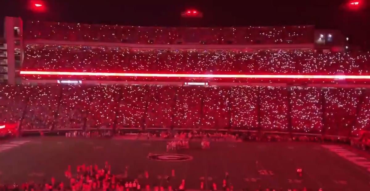 WATCH: Georgia lights up Sanford Stadium with new LED lights