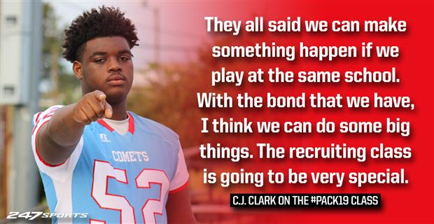 Relationships lead four-star DT C J  Clark to NC State
