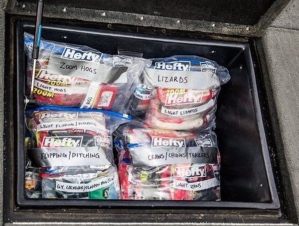 7 steps for organizing soft plastics for Fishing gear stores near me