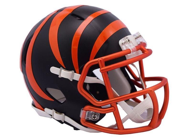 nfl bengals helmets helmet riddell team cincinnati teams every alternate 32 designs uniforms brand speed season awesome mini blaze unveils
