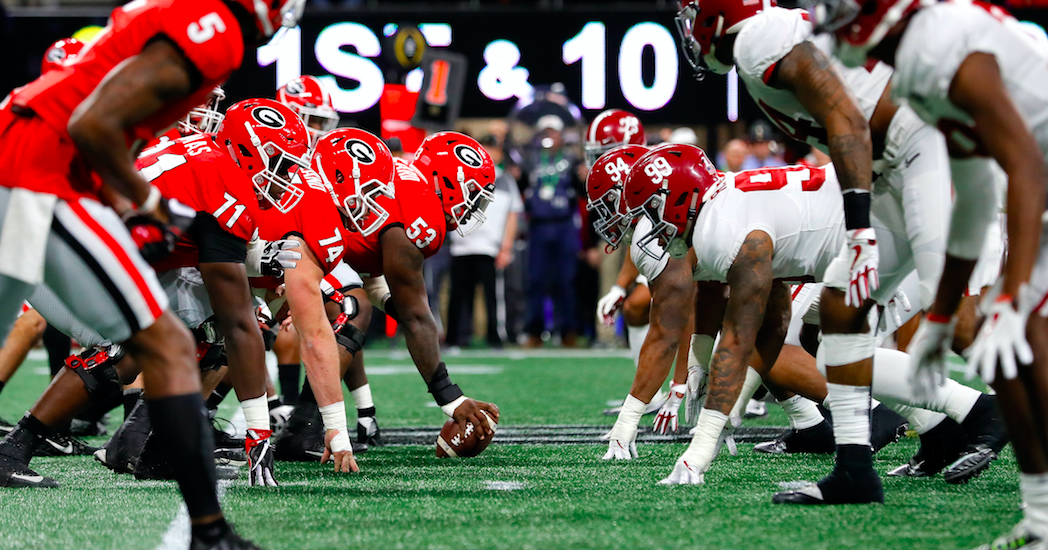 Alabama considered double-digit betting favorite over Georgia