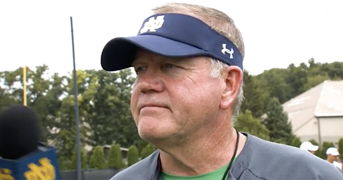 Here's what Notre Dame's Brian Kelly said after practice No. 11