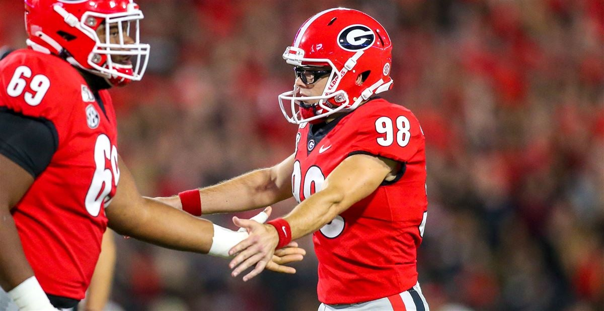 new arrivals 808bd 3c351 Georgia kicker Rodrigo Blankenship honored by SEC
