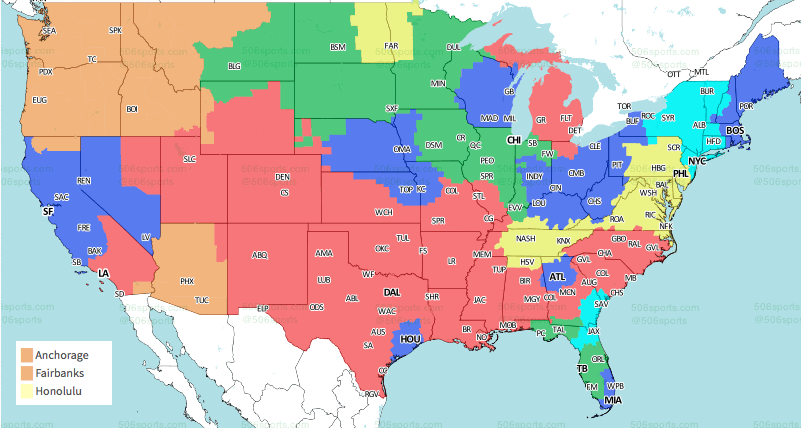 TV coverage map released for ans vs. Eagles on