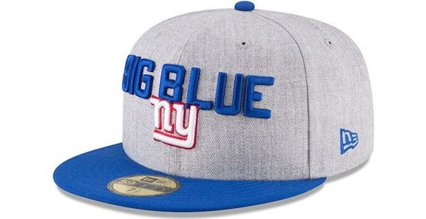 First Look  New York Giants 2018 Official NFL Draft Hats 82684c060f1